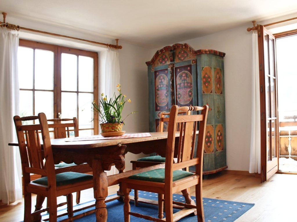 Wohnzimmer der Ferienwohnung Sonnenstrahl